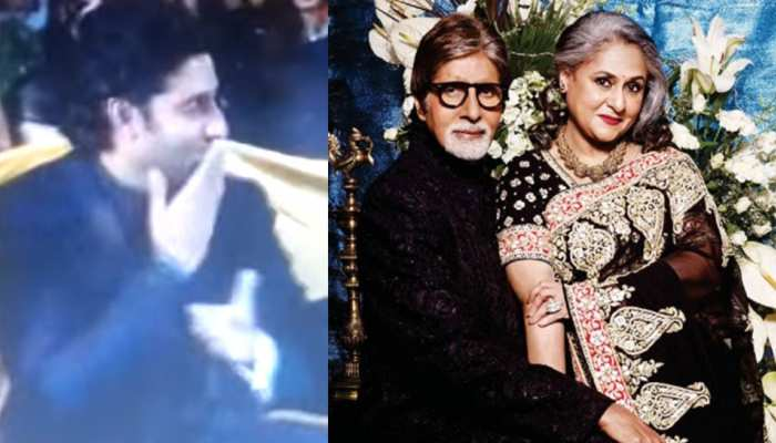 Jaya ने Amitabh को ऐसे दी बधाई, VIDEO में Abhishek का रिएक्शन देख आएगी हंसी