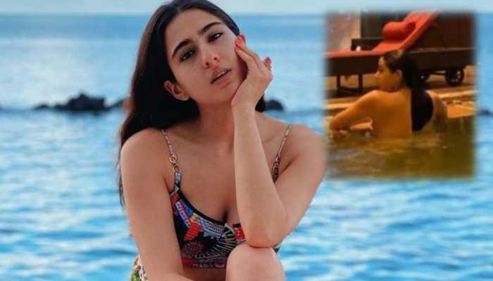 कश्मीर की वादियों में पहुंचकर स्विमिंग पूल में उतरीं सारा अली खान, दिखाया ग्लैमर्स अंदाज