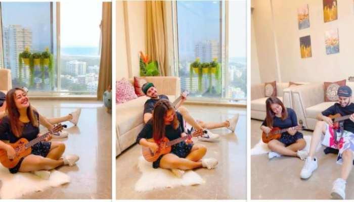 पति रोहनप्रीत सिंह के साथ नेहा कक्कड़ का मस्ती भरा लॉकडाउन