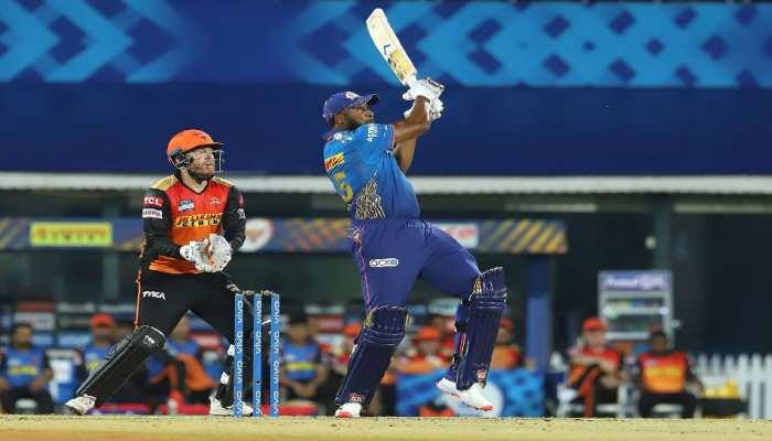 IPL 2021: Kieron Pollard ने मारा सीजन का सबसे लंबा छक्का, दूरी जान हैरान रह जाएंगे आप