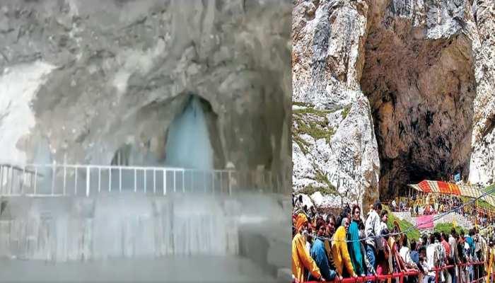 Amarnath Yatra: 28 जून से शुरू हो रही है अमरनाथ यात्रा, पवित्र गुफा से सामने आई बाबा बर्फानी की पहली तस्वीर