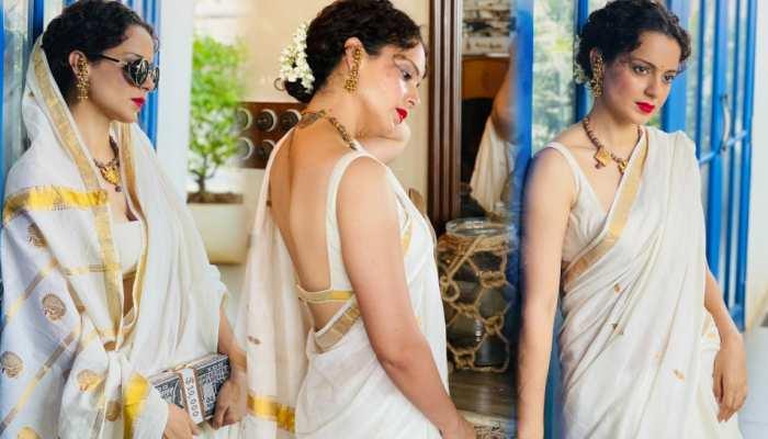 Kangana Ranaut shares her photo in south indian saree look