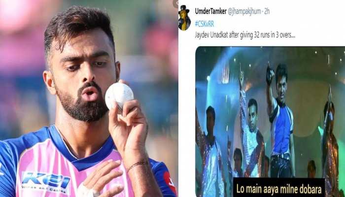 IPL 2021: पिछले मैच के हीरो रहे Jaydev Unadkat ने CSK के खिलाफ लुटाए रन, ट्विटर पर आई Memes की बाढ़