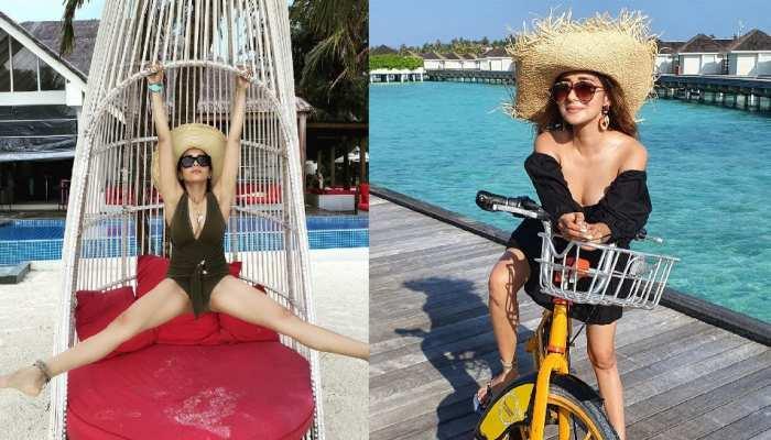 Utran Fame actress Tina Datta enjoying vacation in maldives