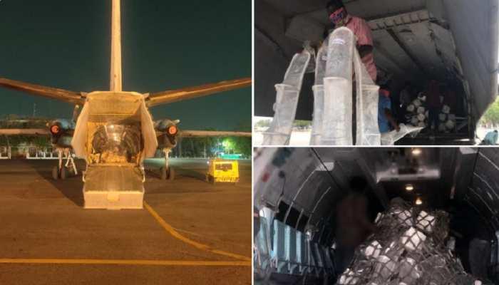 कोरोना के खिलाफ दिल्ली-एनसीआर की जंग में शामिल हुई वायुसेना, ऑक्सीजन सिलेंडर-दवाईयां कर रही है एयरलिफ्ट