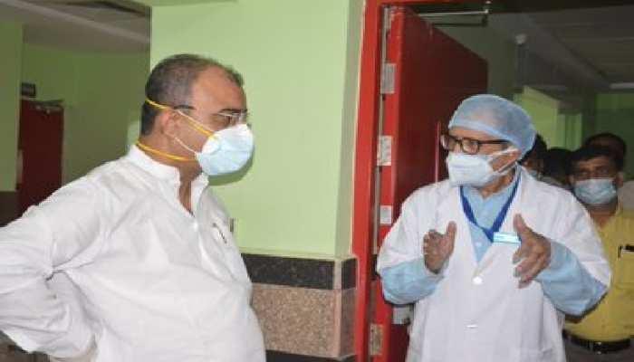 स्वास्थ्य मंत्री ने किया निर्माधीन कोविड अस्पताल का निरीक्षण,दिया 24 घंटे में शुरू करने का निर्देश