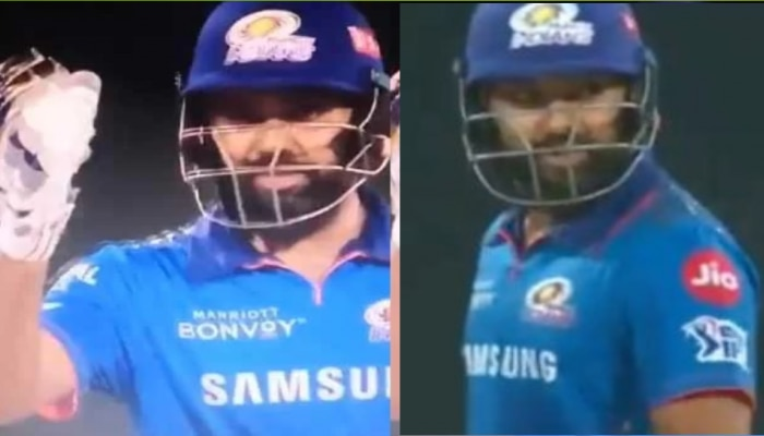 IPL 2021:Rohit Sharma का दिखा रौद्र रूप, अंपायर पर जमकर बरसे, Viral हुआ Video