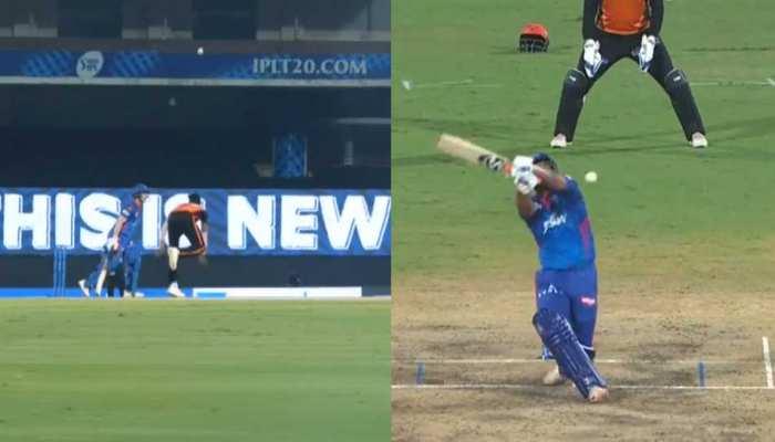 Funny Video: Vijay Shankar के हाथ से फिसली गेंद, Rishabh Pant ने खेला अजीबो गरीब शॉट