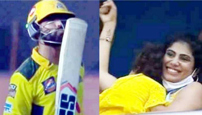 IPL 2021: Harshal Patel पर कहर बनकर टूट रहे थे Jadeja, वाइफ ने इस रोमांटिक अंदाज में किया चीयर