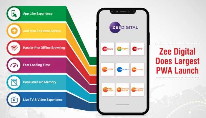 PWA: Zee Digital ने लॉन्च किया प्रोग्रेसिव वेब ऐप, अब कमजोर नेटवर्क के बावजूद देख-पढ़ सकेंगे खबरें
