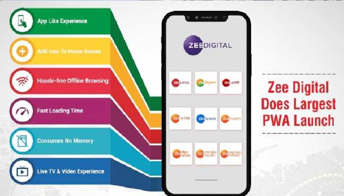 Zee Digital ने लॉन्च किए 13 नए PWA Apps, ऐसा करने वाला देश का पहला मीडिया संस्थान