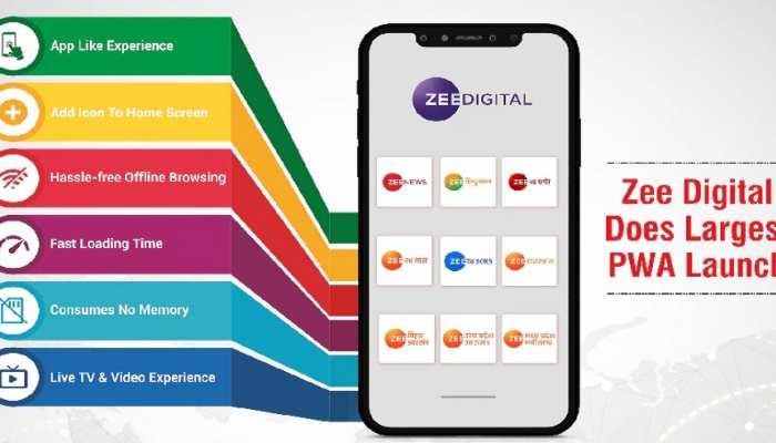 Zee Media ने PWA तकनीक की दिशा में बढ़ाया बड़ा कदम, लांच किए 13 नए Apps