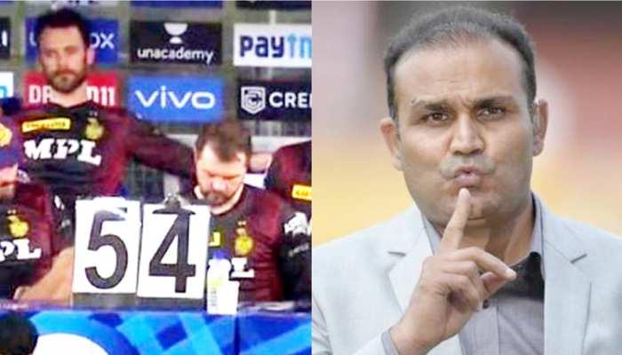 IPL 2021: Virender Sehwag के निशाने पर आई KKR की टीम, कोडवर्ड के इस्तेमाल पर भड़के