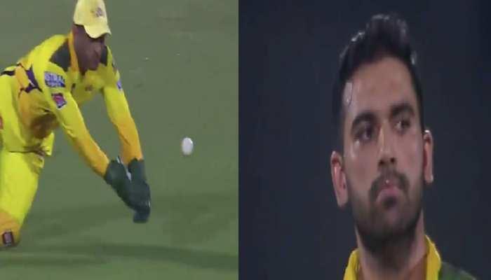IPL 2021: MS Dhoni ने विकेट के पीछे टपकाया आसान कैच, Deepak Chahar ने दिया ऐसा रिएक्शन