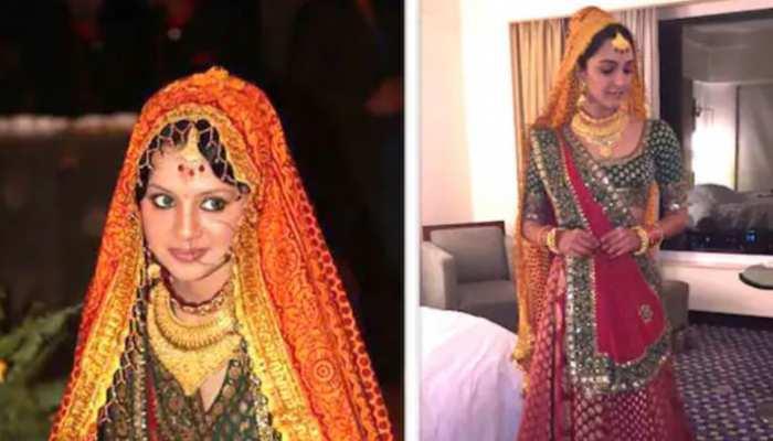 फिल्म के लिए कियारा आडवाणी ने पहना साक्षी धोनी का शादी का जोड़ा!