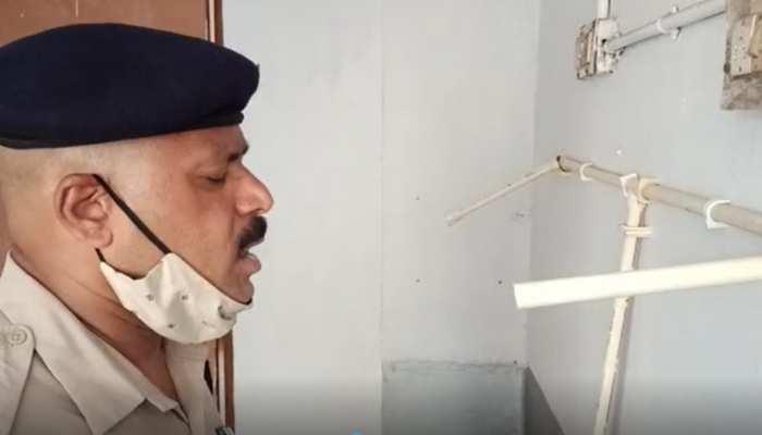 कोरोना संक्रमण से बचाव के लिए पुलिसकर्मियों ने जुगाड़ से बनाई ये 'मशीन'