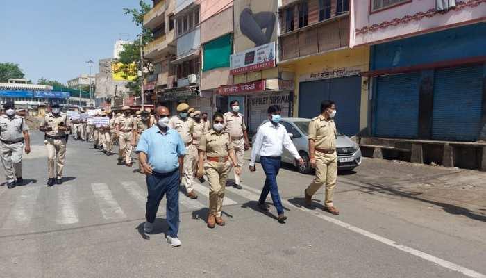 संक्रमण का रेड अलर्ट, Bhilwara प्रशासन निकला सड़कों पर की घर में रहने की अपील