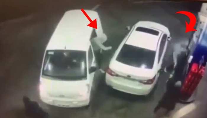 पेट्रोल पंप लूटने आए बदमाशों को लड़की ने खदेड़ा, CCTV में कैद लुटेरों की वारदात