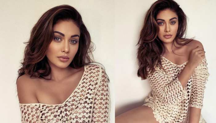 Shefali Jariwala poses in a netted top, Photos VIRAL