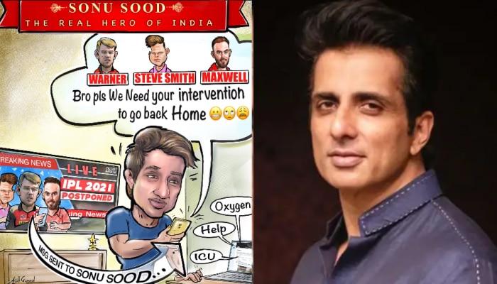 IPL 2021: ऑस्ट्रेलिया खिलाड़ियों को घर भेजने के लिए तैयार हुए Sonu Sood, पोस्ट किया ये मजेदार मैसेज