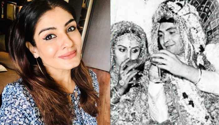 ऋषि कपूर और नीतू कपूर की शादी में काफी क्यूट दिखती थीं Raveena Tandon, सामने आई Throwback Photo