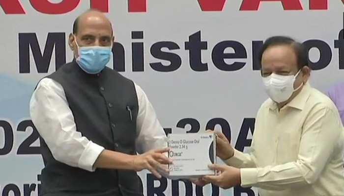 राजनाथ सिंह और डॉ हर्षवर्धन ने जारी की DRDO के ज़रिए बनाई गई कोरोना की दवा