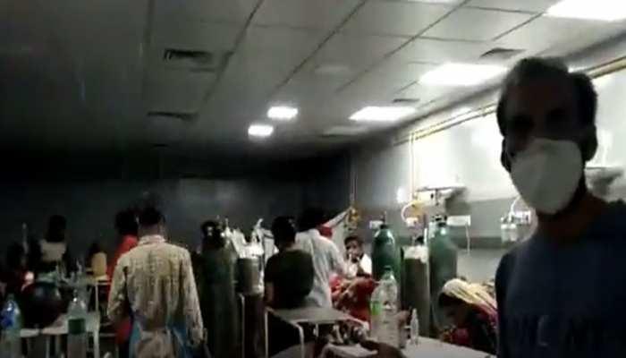 MP:80 लाख रुपए की लागत से बने कोविड सेंटर का हाल, आईसीयू वार्ड में हुई बारिश, मरीज परेशान