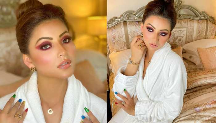 Urvashi Rautela did a gorgeous photoshoot in Bathrobe After Versace Baby