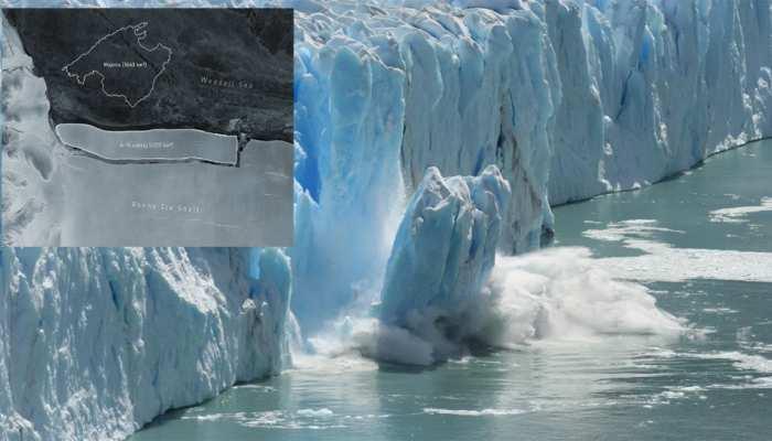 Global Warming: Antarctica में टूटा दुनिया का सबसे बड़ा Iceberg, आकार के मामले में Delhi का तीन गुना