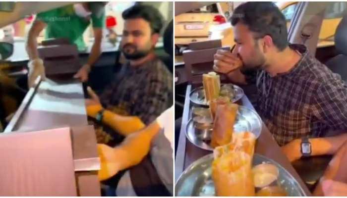 Corona काल में देखिए सबसे अजूबा Innovation, बाहर खाना खाने के लिए फिट है यह Jugaad