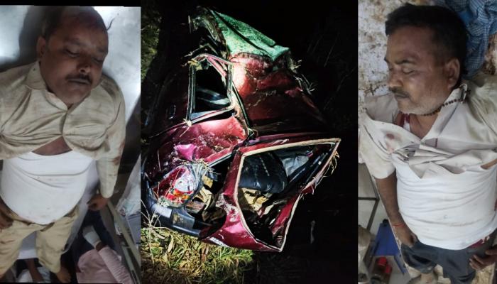 फिरोजाबादा: गाय से टकराई गाड़ी, हादसे में दो कार सवारों की मौत, दो घायल