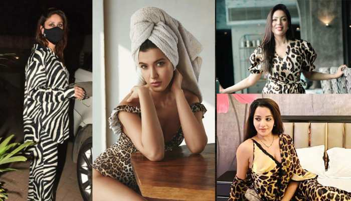 From Kareena Kapoor, Shanaya Kapoor to Monalisa, there is a rage of animal prints, see these photos