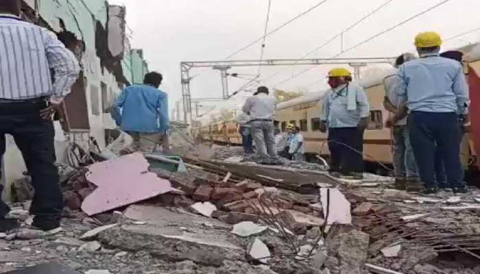 मध्य प्रदेश में हुआ दिल दहलाने वाला हादसा, ट्रेन गुजरने से ढह गया रेलवे स्टेशन