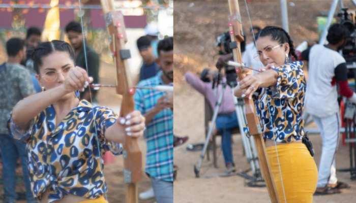 Sunny Leone Latest Photoshoot Crossbow Splitsvilla 13 Shooting Actress Aiming on the Hearts of Fans