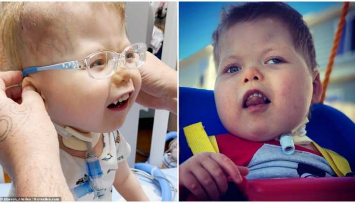 viral photos of baby beaming with joy after seeing his parents good news