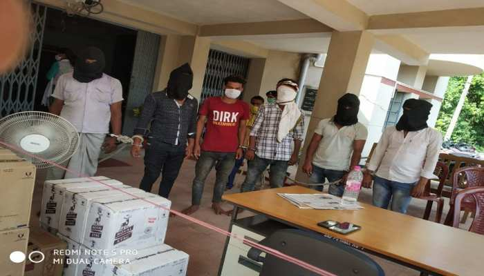 शेखपुरा पुलिस को मिली बड़ी सफलता, विदेशी शराब के साथ 6 शराब तस्कर गिरफ्तार