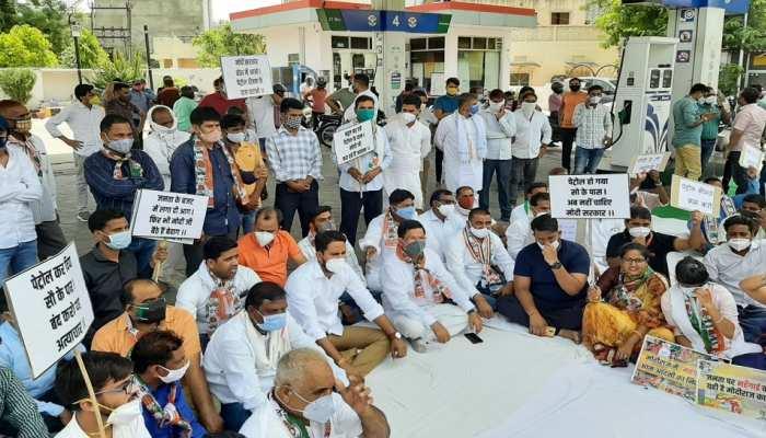 महंगाई के विरोध में Congress का प्रदेशव्यापी प्रदर्शन, केंद्र से की जनता को राहत देने की मांग
