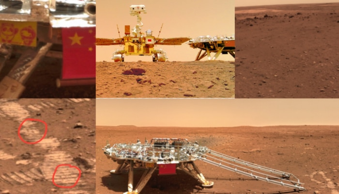 Zhurong Tianwen 1 CNSA mars mission roverSee in pictures how is the land of Mars