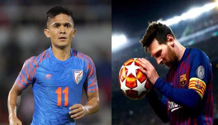 Sunil Chhetri का बड़ा खुलासा, दुखी होने पर देखते हैं Lionel Messi के वीडियो