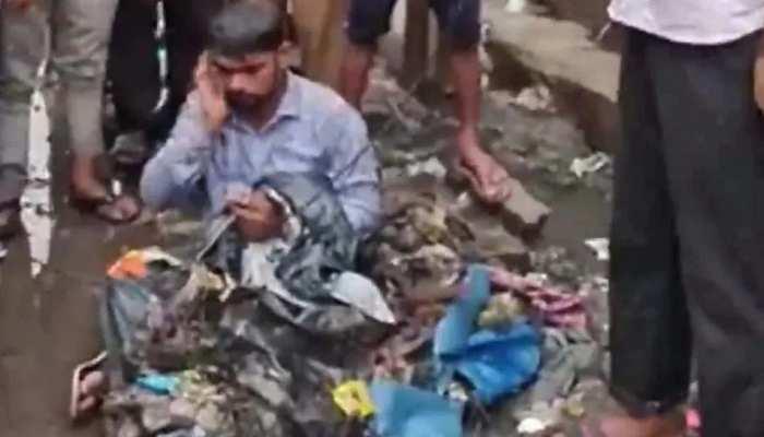 मुंबई में बारिश में डूब गई थी सड़क, गुस्से में शिव सेना विधायक ने ठेकेदार का कर दिया यह हाल, देखें वीडियो