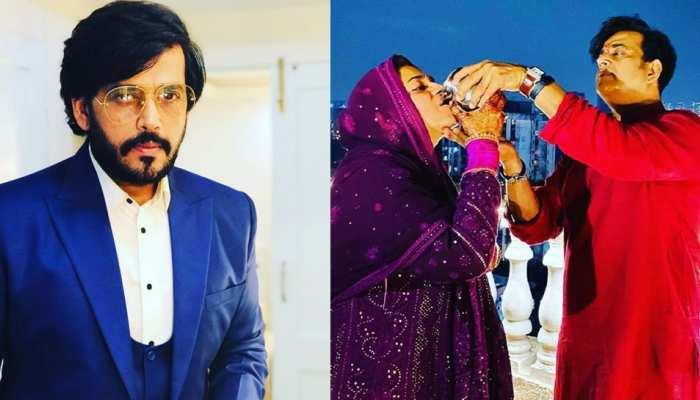 Ravi Kishans wife Preeti Kishan is very beautiful Actor sleep by touching Her feet at night