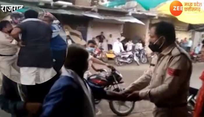 पुलिस ने किसान को पीटा, किसान ने भी कर दी धुलाई, वायरल हुआ Video