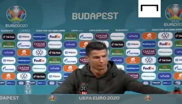 Coca-Cola loses 4 billion dollars as Cristiano Ronaldo removes soft drink bottles at Press conference