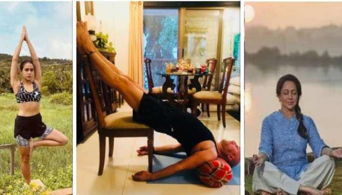 सारा अली खान से लेकर हेमा मालिनी तक, खुद को फिट रखने के लिए करती हैं योगा