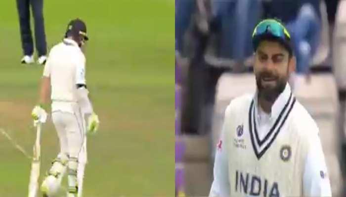 WTC: न्यूजीलैंड के बल्लेबाजों को भी नहीं बख्श रहे Virat Kohli, स्लेजिंग का ये वीडियो आया सामने