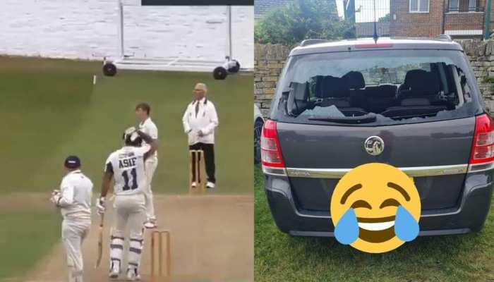 छक्का मारने की खुशी पलभर में हो गई हवा, जब बल्लेबाज ने फोड़ा अपनी ही कार का शीशा