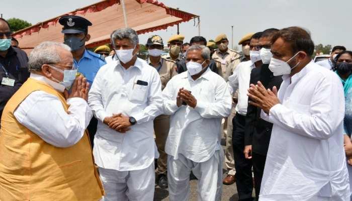 Governor Kalraj Mishra पहुंचे Mount Abu, जनप्रतिनिधियों एवं प्रशासनिक अधिकारियों ने की अगवानी