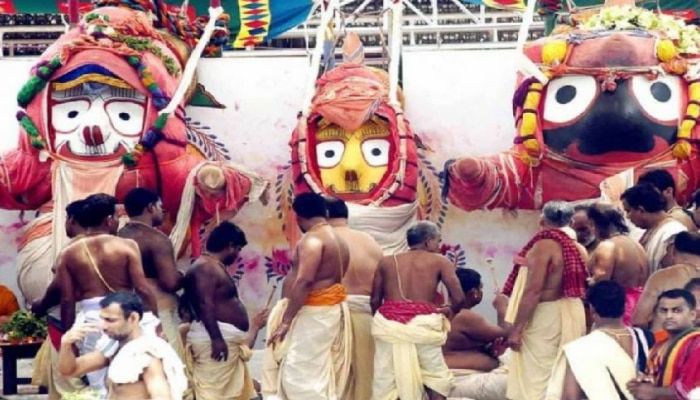 lord jagannaths bathing rituals held in puri snan purnima anasar festival see in pictures