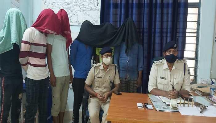 मुंगेर: हेरूदियारा लूट-पाट मामले में पुलिस ने किया खुलासा, देशी कट्टा के साथ 6 गिरफ्तार