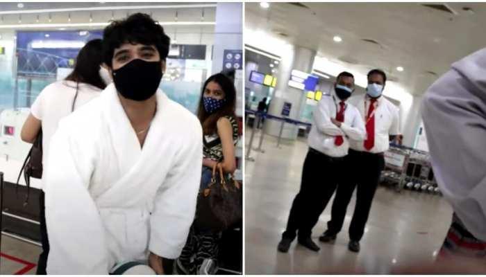 Kumkum Bhagya फेम Zeeshan Khan बाथरोब में पहुंचे फ्लाइट पकड़ने, फिर स्टाफ ने कही ये बातें